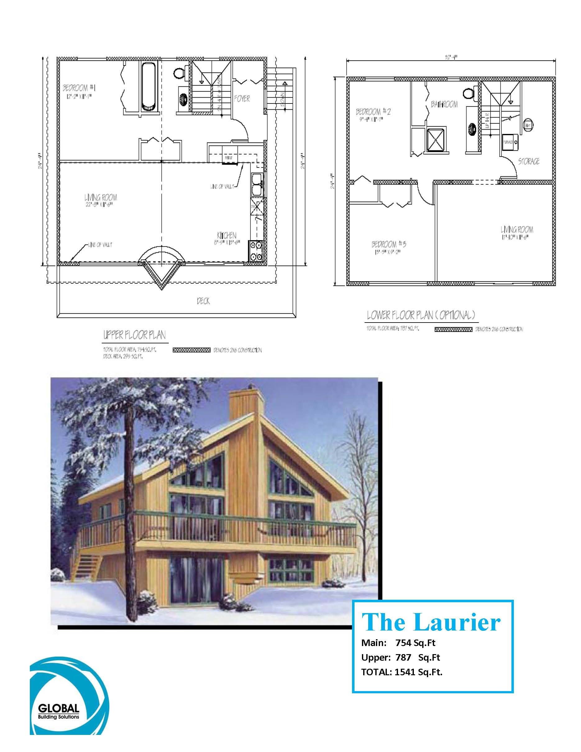 Cabin floor plan plp design and drafting calgary for Floor plan drafting services